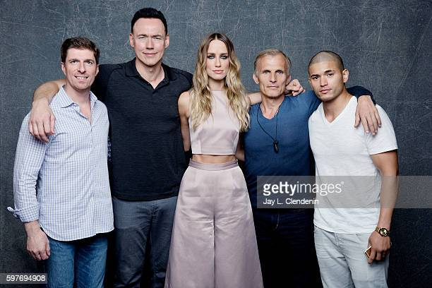 Chuck Hogan Kevin Durand Ruta Gedmintas Richard Sammel and Miguel Gomez of FX's 'The Strain' are photographed for Los Angeles Times at San Diego...