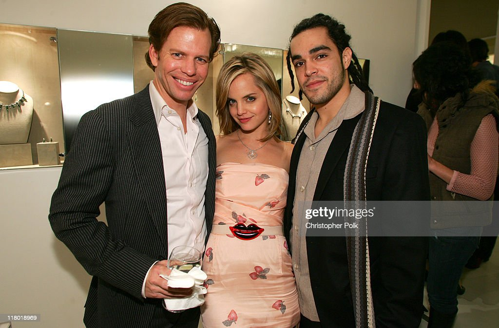 Chuck Jones, Mena Suvari and Mike Carrasco during Suzanne Felsen Cocktail Party and Store Opening Hosted by Mena Suvari - November 16, 2005 at 8332 Melrose Ave in Los Angeles, California, United States.