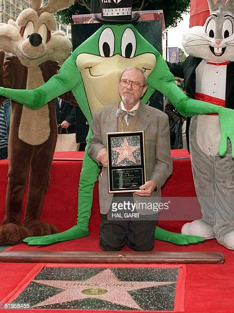Chuck Jones threetime Academy Award winning animator and creator is honoured 13 February 1995 with a star on the Hollywood Walk of Fame in Los...