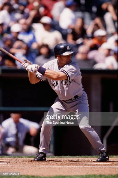 Chuck Knoblauch Of The New York Yankees Bats Against The