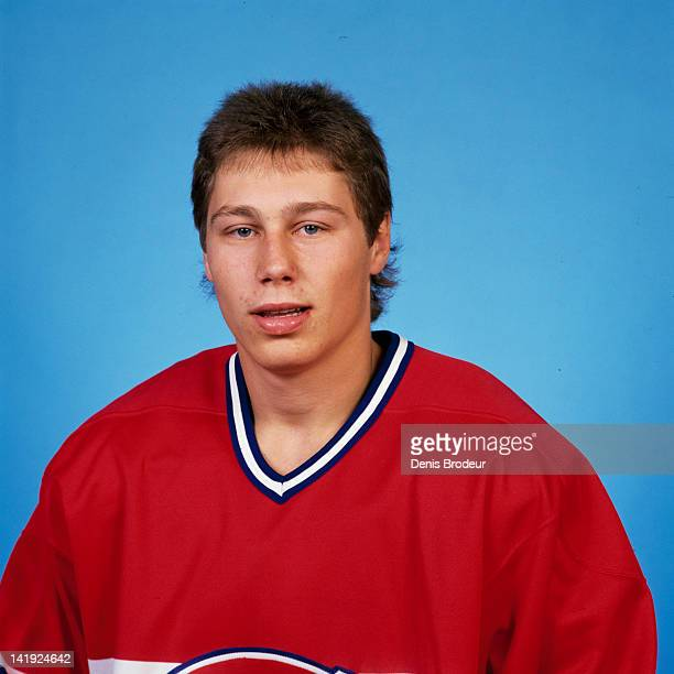 Chuck Lefley of the Montreal Canadiens poses for a photo Circa 1970 at the Montreal Forum in Montreal Quebec Canada