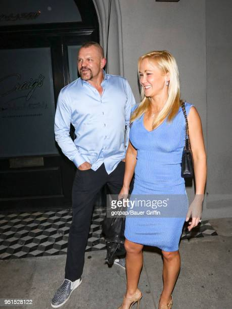 Chuck Liddell and Heidi Northcott are seen on April 25 2018 in Los Angeles California