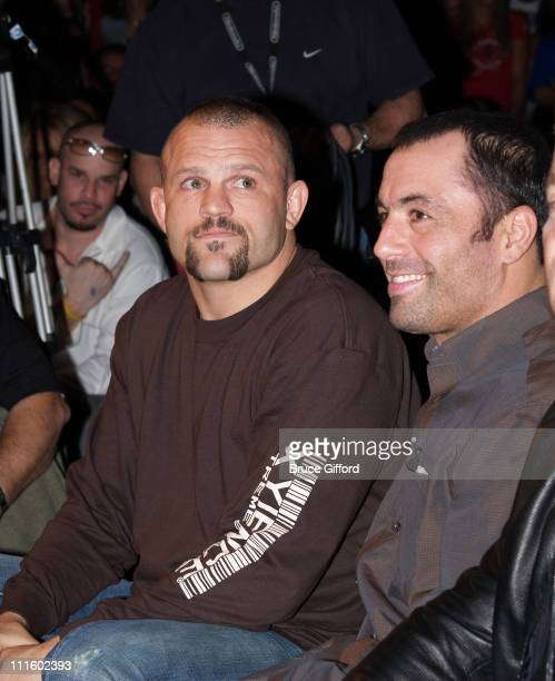 Chuck Liddell and Joe Rogan during Ultimate Fight Night Live From The Joint January 16 2006 at The Hard Rock Hotel and Casino in Las Vegas Nevada...