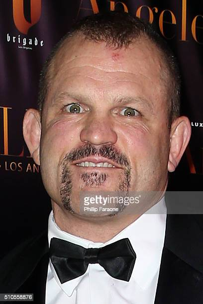 Chuck Liddell attends the City Gala Fundraiser 2016 at The Playboy Mansion on February 15 2016 in Los Angeles California