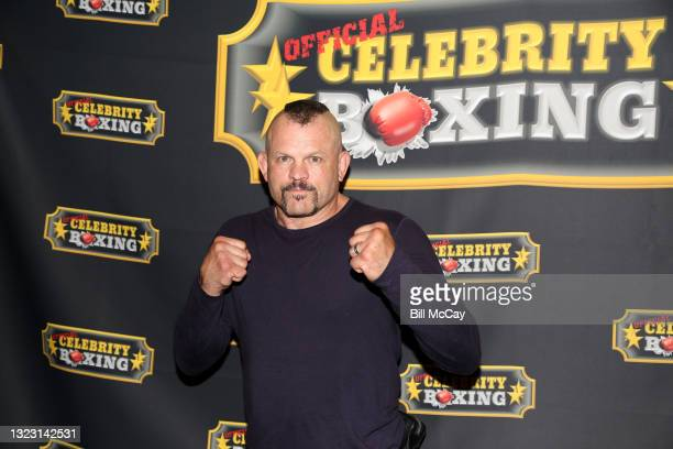 Chuck Liddell poses at the Celebrity Boxing Match between Lamar Odom and Aaron Carter at Showboat Atlantic City on June 11, 2021 in Atlantic City,...