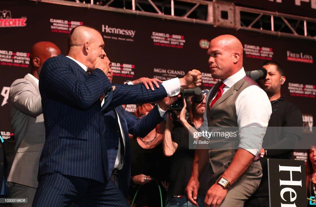 Gennady Golovkin v Canelo Alvarez: Weigh-in : News Photo