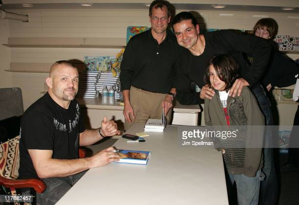 """Chuck Liddell Signs his New Book """"Iceman: My Fighting Life"""" at Bookends on January 29, 2008 in Ridgewood, New Jersey."""