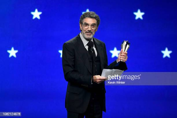 Chuck Lorre accepts the Critics' Choice Creative Achievement Award onstage during the 24th annual Critics' Choice Awards at Barker Hangar on January...