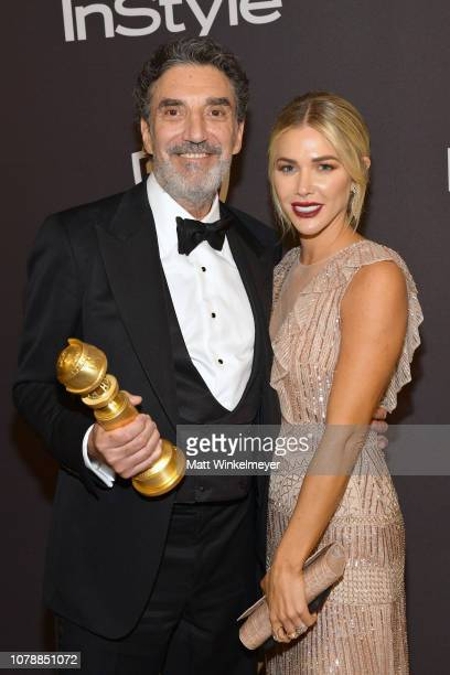 Chuck Lorre and Arielle Lorre attend the 2019 InStyle and Warner Bros 76th Annual Golden Globe Awards PostParty at The Beverly Hilton Hotel on...