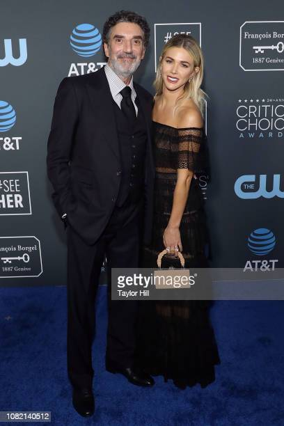 Chuck Lorre and Arielle Lorre attend The 24th Annual Critics' Choice Awards at Barker Hangar on January 13 2019 in Santa Monica California