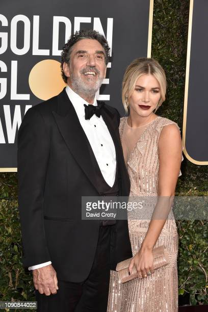 Chuck Lorre and Arielle Lorre attend the 76th Annual Golden Globe Awards at The Beverly Hilton Hotel on January 06 2019 in Beverly Hills California