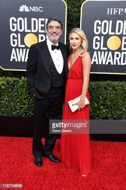 Chuck Lorre and Arielle Lorre attend the 77th Annual Golden Globe Awards at The Beverly Hilton Hotel on January 05 2020 in Beverly Hills California