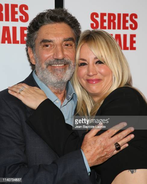 Chuck Lorre and Kaley Cuoco attend series finale party for CBS' The Big Bang Theory at The Langham Huntington Pasadena on May 01 2019 in Pasadena...