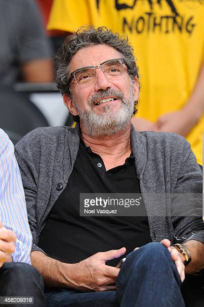 Chuck Lorre attends a basketball game between the Los Angeles Clippers and the Los Angeles Lakers at Staples Center on October 31 2014 in Los Angeles...