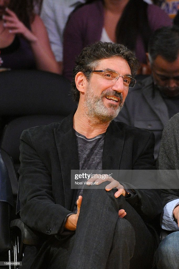 Chuck Lorre attends a basketball game between the Utah Jazz and the Los Angeles Lakers at Staples Center on December 9, 2012 in Los Angeles, California.