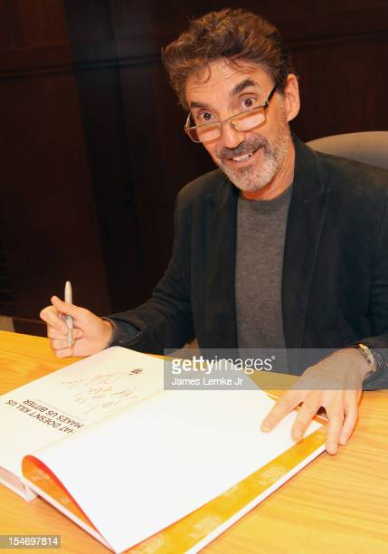 """Chuck Lorre discusses and signs """"What Doesn't Kill Us Makes Us Bitter"""" held at the Barnes & Noble bookstore at The Grove on October 24, 2012 in Los..."""