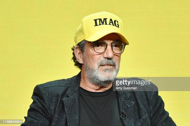 Chuck Lorre of Bob Hearts Abishola speaks during the CBS segment of the 2019 Summer TCA Press Tour at The Beverly Hilton Hotel on August 1 2019 in...