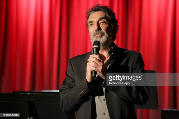 Chuck Lorre speaks onstage at GRAMMY Signature Schools Enterprise Award Presentation on October 23 2017 in Los Angeles California