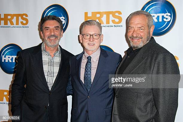 Chuck Lorre Warren Littlefield and Dick Wolf arrive at The Hollywood Radio And Television Society hosts Building A Kingdom Then And Now at The...
