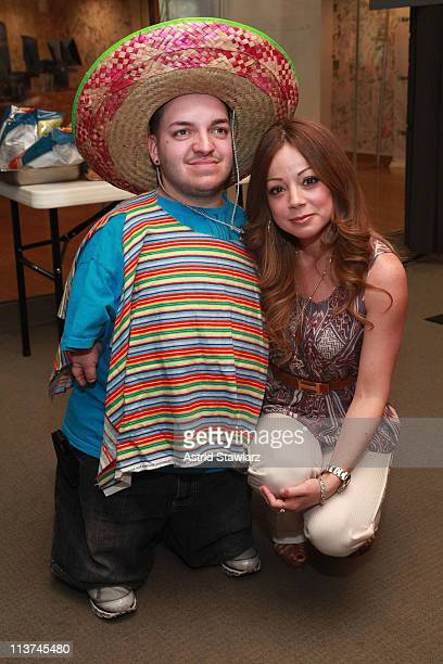 Chuck Love pose for photos at the annual Cinco de Mayo GuacOff with special guests Marcela Valladolid chef cookbook author host of Food Network's...