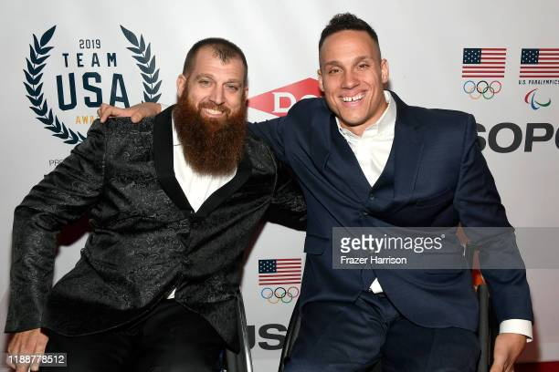 Chuck Melton and Joe Delagrave attend the 2019 Team USA Awards at Universal Studios Hollywood on November 19 2019 in Universal City California