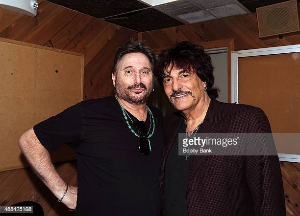 Chuck Negron formerly of Three Dog Night and musician Carmine Appice attends at the Garden State Arts Foundation 2015 Gala at PNC Bank Arts Center on...