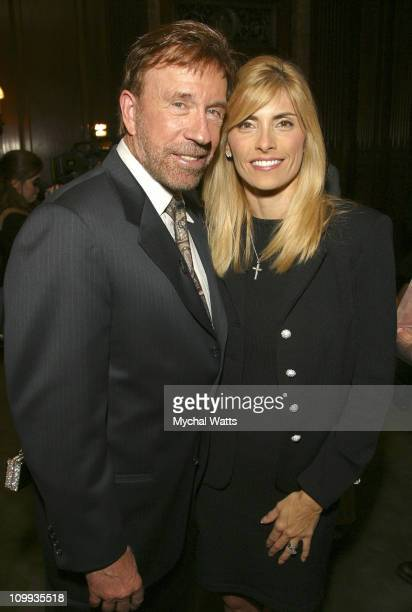 Chuck Norris and his Wife Gena during Chuck Norris Host's The Launch Party For Jerry Jenkins' Solo Faith Based Novel Soon The Beginnig of the End at...