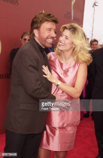 Chuck Norris and his wife Gena O'Kelley who is expecting twins at the World Stunt Awards 2001 honoring the men and women who risk their lives to put...