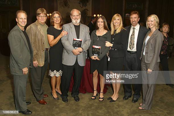 Chuck Norris and Jerry Jenkins with the Tyndale House Publishers