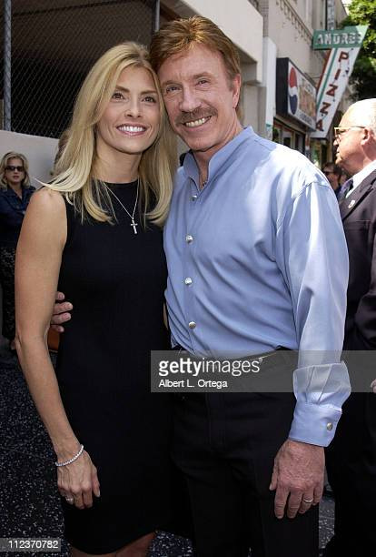Chuck Norris and wife during Michael Bolton Honored with a Star on the Hollywood Walk of Fame for His Achievements in Music at Hollywood Boulevard in...