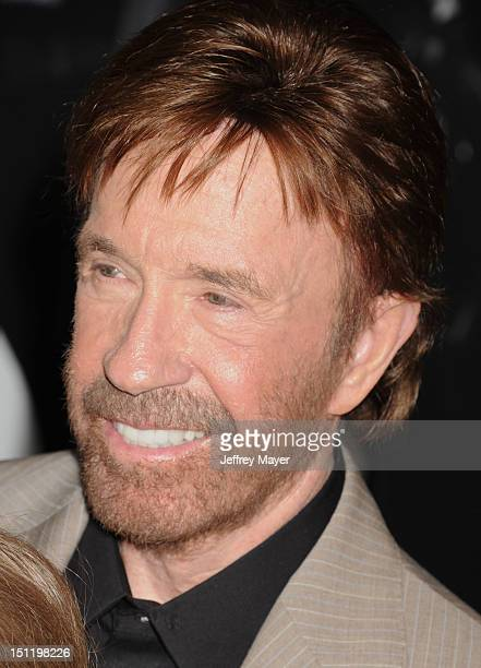 Chuck Norris arrives at The Expendables 2 Los Angeles premiere at Grauman's Chinese Theatre on August 15 2012 in Hollywood California