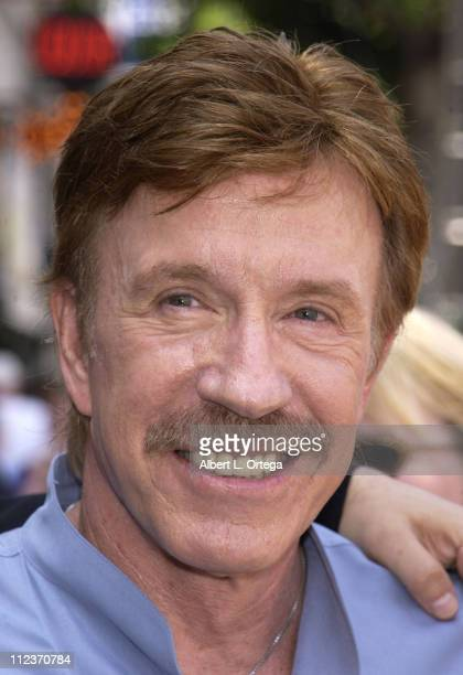Chuck Norris during Michael Bolton Honored with a Star on the Hollywood Walk of Fame for His Achievements in Music at Hollywood Boulevard in...
