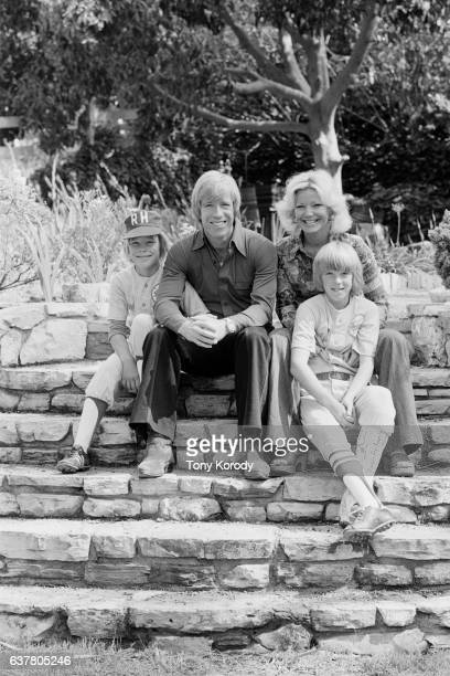 Chuck Norris with his wife Diane and their sons Mike and Eric