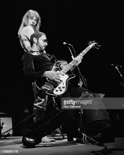 """Chuck Panozzo, and James """"JY"""" Young of STYX performs during Z-93 & U.S. Marines Toys for Tots at The OMNI Coliseum in Atlanta Georgia, December 14,..."""