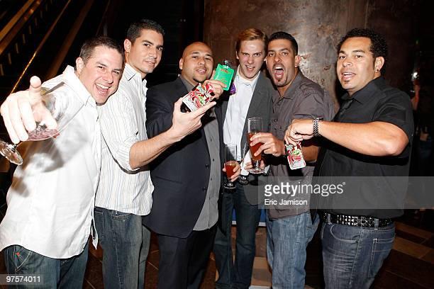 Chuck Prada Mario DJ Nova Vincent Pryme Kevin Tur and Jason Johnson attend the 2010 Nightclub Bar Show 25th Anniversary Party at Haze Nightclub at...