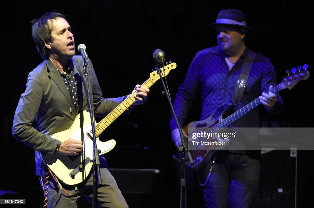 Chuck Prophet (L) of Chuck Prophet and the Mission Express performs at The Masonic Auditorium on June 22, 2018 in San Francisco, California.