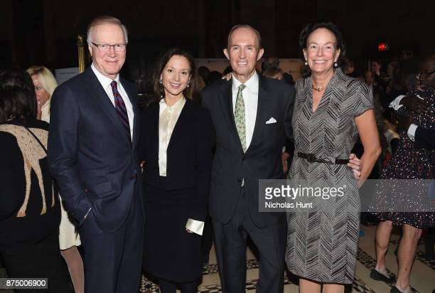 Chuck Scarborough Arriana Boardman Mark Gilbertson and Andrea Fahnestock attend The ASPCA 2017 Humane Awards Luncheon at Cipriani 42nd Street on...