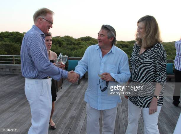Chuck Scarborough Christopher Fischer and Joni Fischer attend the Evelyn Alexander Wildlife Rescue Center Summer 2011 benefit at a Private Residence...