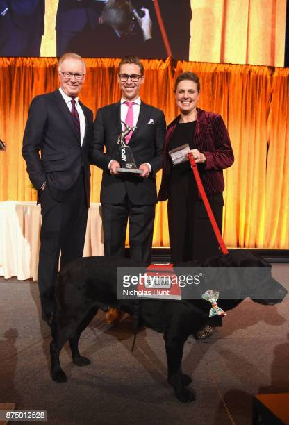 Chuck Scarborough Patrick Downes and Jessica Kensky attend The ASPCA 2017 Humane Awards Luncheon at Cipriani 42nd Street on November 16 2017 in New...