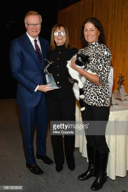 Chuck Scarborough Peggy Musen Cat of the Year Honoree DOG and Nadine Wenig speaks at the the ASPCA Hosts 2018 Humane Awards Luncheon at Cipriani 42nd...