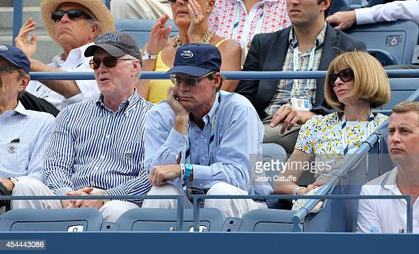 Chuck Scarborough Shelby Bryan and girlfriend Anna Wintour attend Day 7 of the 2014 US Open at USTA Billie Jean King National Tennis Center on August...