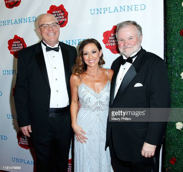Chuck Soloman Ashley Bratcher and Cary Konzelman attend the Unplanned Red Carpet Premiere on March 18 2019 in Hollywood California