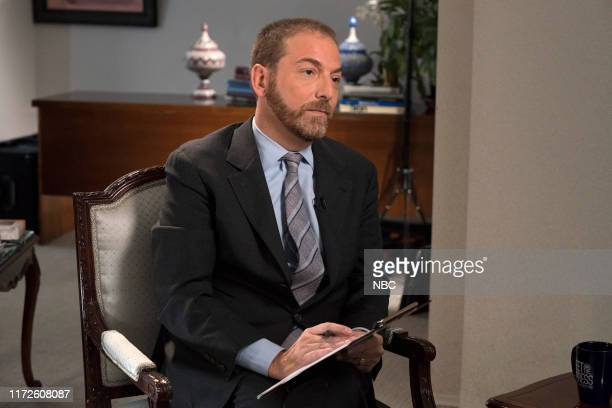 PRESS Chuck Todd interviews Iran FM Javad ZarifI in the Iran Mission to the United Nations in New York City on September 28 2019 Pictured Chuck Todd