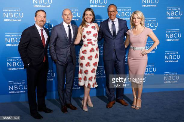 Chuck Todd Matt Lauer Savannah Guthrie Lester Holt and Megyn Kelly attend the 2017 NBCUniversal Upfront at Radio City Music Hall on May 15 2017 in...