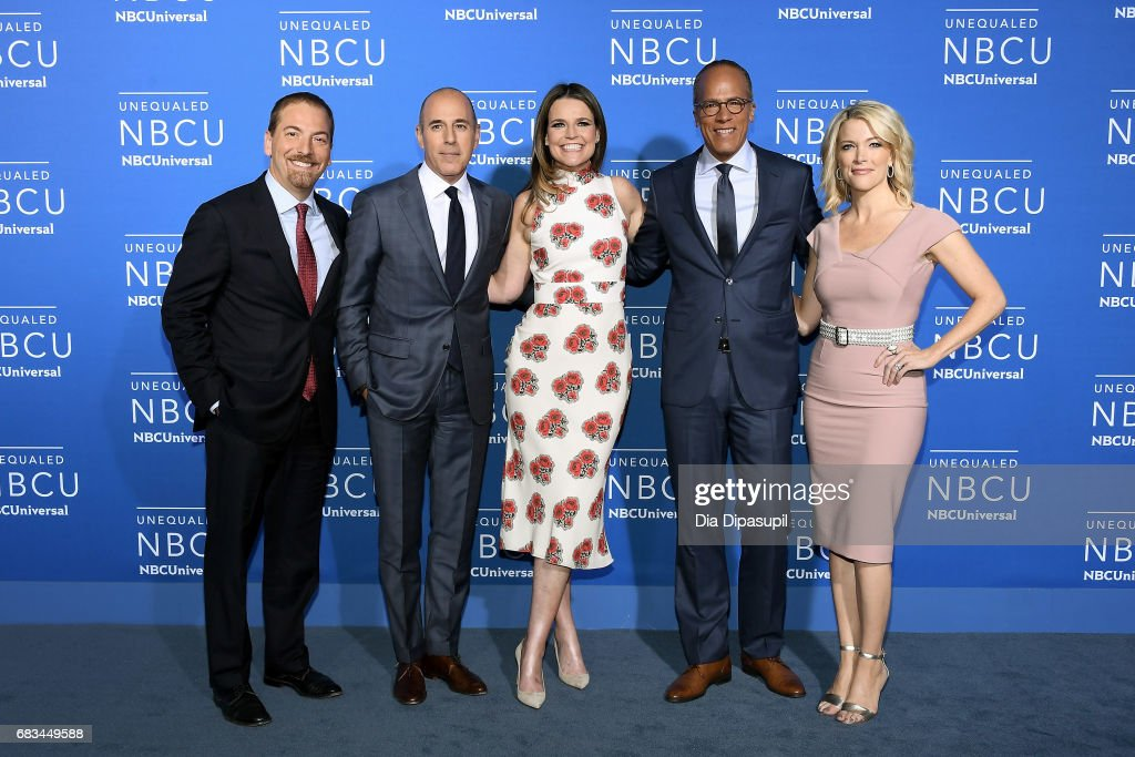 Chuck Todd, Matt Lauer, Savannah Guthrie, Lester Holt, and Megyn Kelly attend the 2017 NBCUniversal Upfront at Radio City Music Hall on May 15, 2017 in New York City.