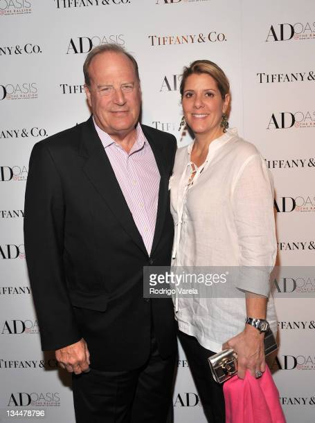 Chuck Townsend and Jill Townsend attend the Tiffany Co and Camila Alves' preview of the 20112012 Blue Book Collection and AD Oasis at The Raleigh on...