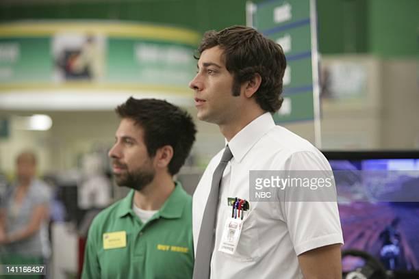 CHUCK 'Chuck Versus the Seduction' Episode 2 Air Date Pictured Joshua Gomez as Morgan Grimes Zachary Levi as Chuck Bartowski Photo by Adam...