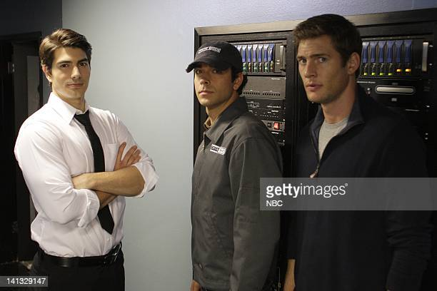 CHUCK Chuck vs Operation Awesome Episode 304 Pictured Brandon Routh as Daniel Shaw Zach Levi as Chuck Bartowski Ryan McPartlin as Devon 'Captain...