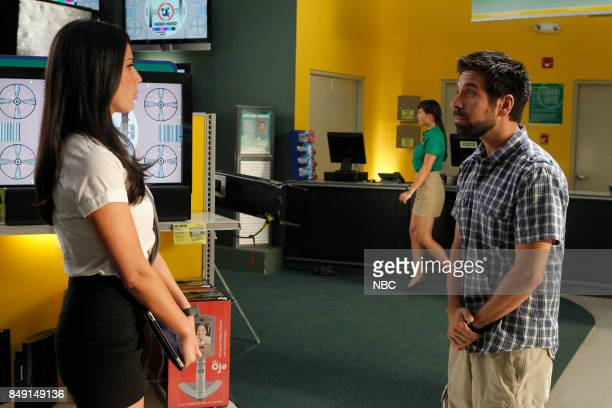 CHUCK Chuck vs the Anniversary Episode 401 Pictured Olivia Munn as Greta Joshua Gomez as Morgan Grimes