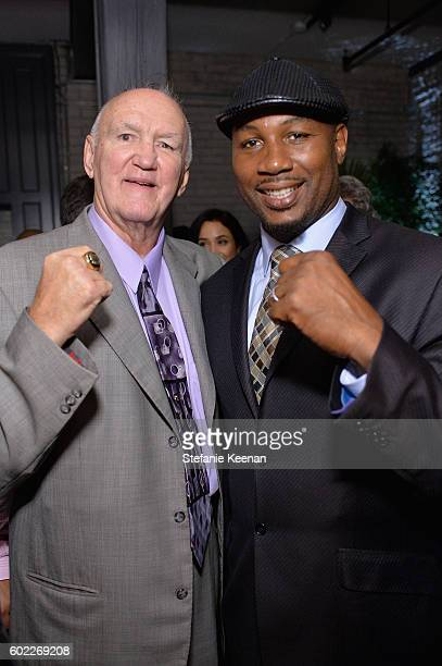 Chuck Wepner and Lennox Lewis at The Bleeder TIFF party hosted by GREY GOOSE Vodka at Storys Building on September 10, 2016 in Toronto, Canada.